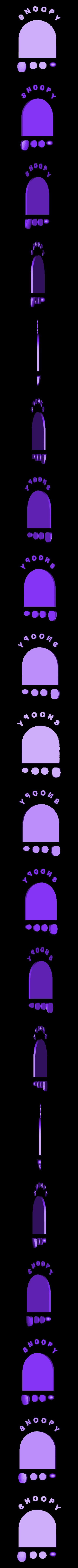 Snoopy_vs_Red_Baron-black_pieces.stl Download free STL file Snoopy vs Red Baron Bank (Compilation/remix) • 3D print template, lowboydrvr