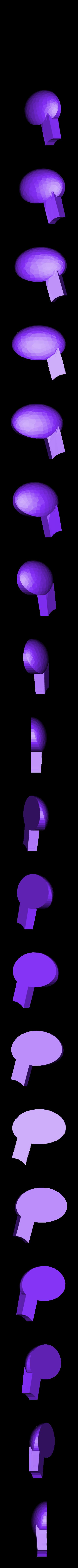 Snoopy_vs_Red_Baron-Ear_Cap_R.stl Download free STL file Snoopy vs Red Baron Bank (Compilation/remix) • 3D print template, lowboydrvr