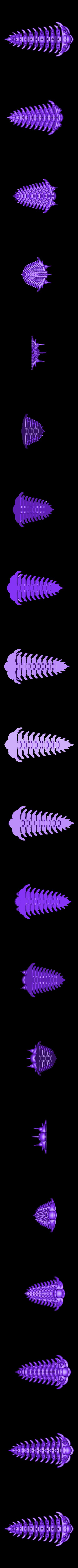 Trilobite_v1_assembled.STL Télécharger fichier STL gratuit Comura Articulatum • Modèle imprimable en 3D, Ogubal3D