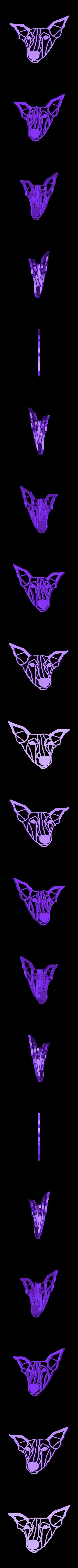 bowie2.stl Télécharger fichier STL gratuit Bowie I Greyhound Dog Wall Sculpture 2D • Plan à imprimer en 3D, UnpredictableLab