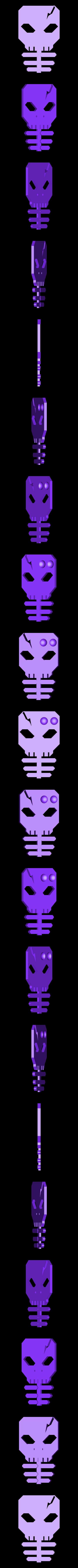 scellyearbud2.stl Télécharger fichier STL gratuit Porte-bouton d'oreille squelette • Modèle pour imprimante 3D, Qelorliss