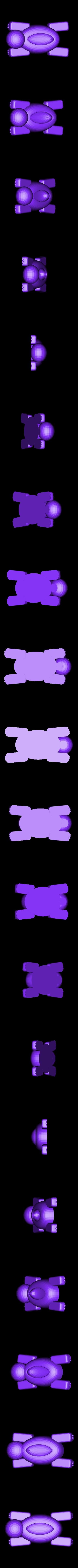 turtle_hallow_legs01stl.stl Télécharger fichier STL gratuit Bateau tortue • Design pour imprimante 3D, Kajdalon