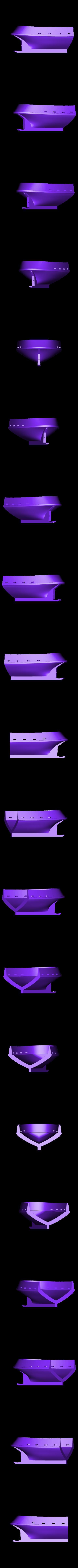 tug_hull2.stl Download free STL file Barge with Tugboat • 3D print object, Kajdalon