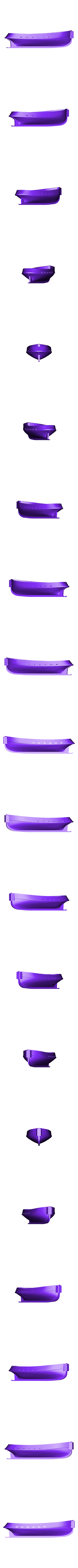 tug_hull.stl Download free STL file Barge with Tugboat • 3D print object, Kajdalon