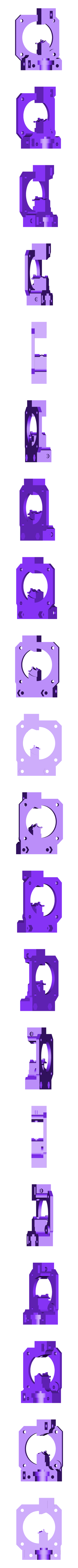 Extruder_main_onefan.STL Télécharger fichier STL gratuit Extrudeuse à entraînement direct pour E3D-v6 • Plan pour imprimante 3D, Rusichar