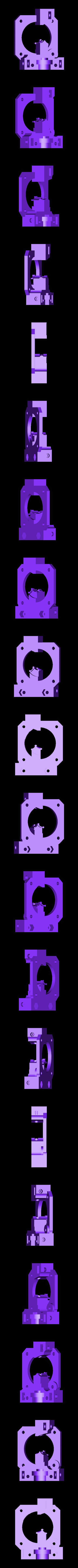 Extruder_main_dual.STL Télécharger fichier STL gratuit Extrudeuse à entraînement direct pour E3D-v6 • Plan pour imprimante 3D, Rusichar