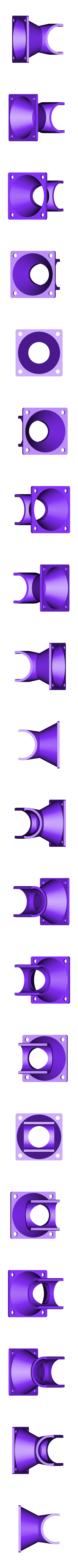 Hotend-Fan-Duct.stl Download free STL file Customizable Fan Duct for All Metal Hot End and 40mm fan • 3D printing model, dede67