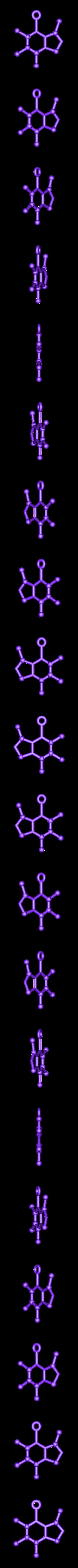 Caffeine Molecule Ornament.stl Télécharger fichier STL gratuit Ornement de caféine libre de molécule de caféine • Modèle imprimable en 3D, httpkoopa