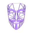 67.Anonymous.stl Download free STL file Anonymous wall sculpture 2D • Template to 3D print, UnpredictableLab