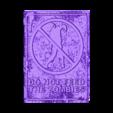 cartel_zombie.stl Télécharger fichier STL gratuit PLACA ZOMBIE Dibujo 3d multicolore • Plan imprimable en 3D, 3dlito