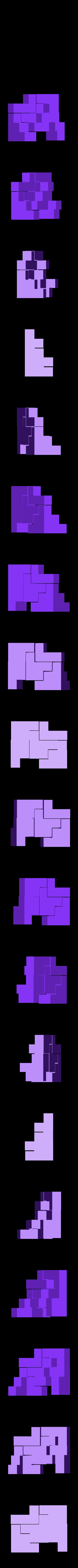 mini_puzzlecube_color2_pieces.stl Télécharger fichier STL gratuit Mini Puzzle Cube Impossible • Objet pour imprimante 3D, Balkhagal4D