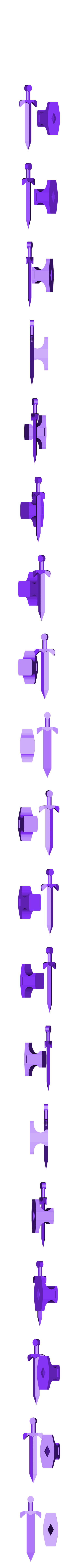 sword_in_the_anvil_and_sword_together.stl Download free STL file Sword in the Anvil • 3D print design, Balkhagal4D