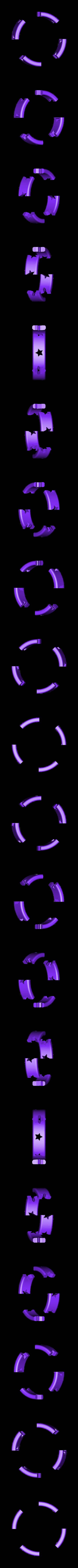 Ring2.STL Télécharger fichier STL gratuit Bracelet étoile - Diamond Hotend • Design imprimable en 3D, Balkhagal4D