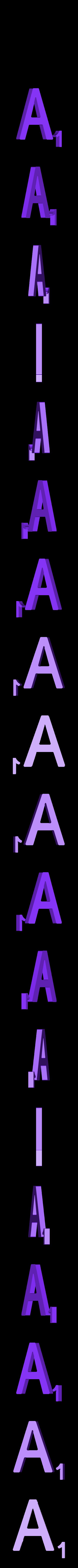 Dual_Letter_A.STL Télécharger fichier STL gratuit Pièces et support SCRABBBLE • Design pour imprimante 3D, Balkhagal4D