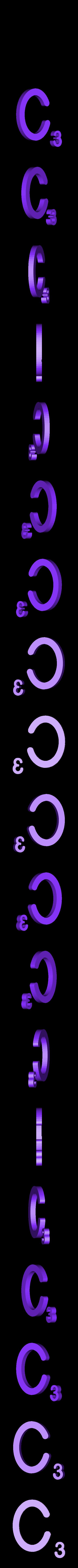 Dual_Letter_C.STL Télécharger fichier STL gratuit Pièces et support SCRABBBLE • Design pour imprimante 3D, Balkhagal4D