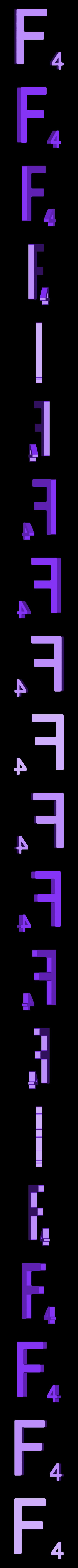 Dual_Letter_F.STL Télécharger fichier STL gratuit Pièces et support SCRABBBLE • Design pour imprimante 3D, Balkhagal4D