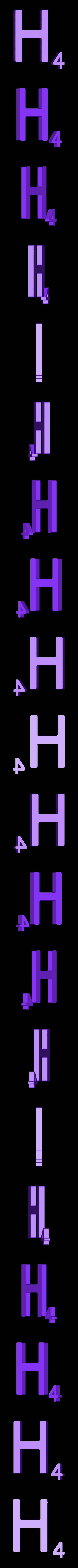Dual_Letter_H.STL Télécharger fichier STL gratuit Pièces et support SCRABBBLE • Design pour imprimante 3D, Balkhagal4D