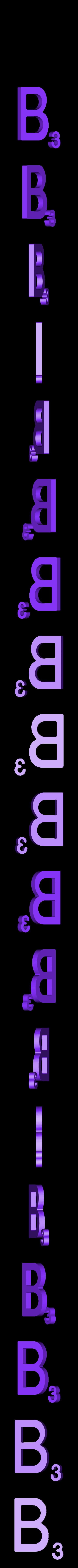Dual_Letter_B.STL Télécharger fichier STL gratuit Pièces et support SCRABBBLE • Design pour imprimante 3D, Balkhagal4D