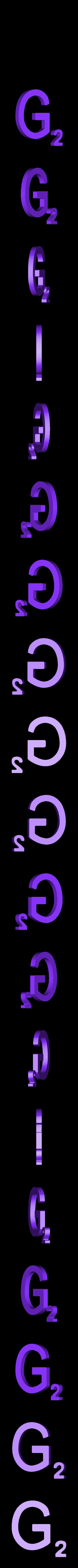 Dual_Letter_G.STL Télécharger fichier STL gratuit Pièces et support SCRABBBLE • Design pour imprimante 3D, Balkhagal4D