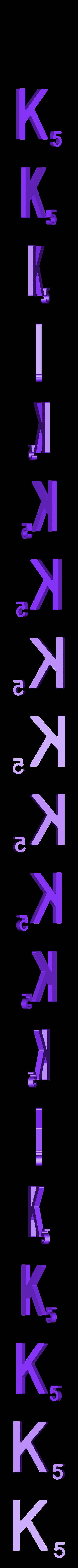 Dual_Letter_K.STL Télécharger fichier STL gratuit Pièces et support SCRABBBLE • Design pour imprimante 3D, Balkhagal4D