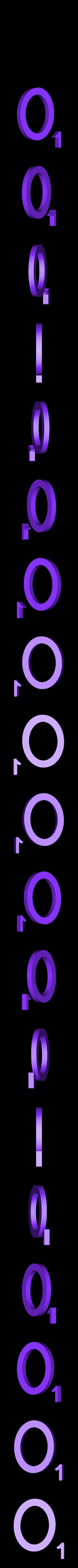 Dual_Letter_O.STL Télécharger fichier STL gratuit Pièces et support SCRABBBLE • Design pour imprimante 3D, Balkhagal4D