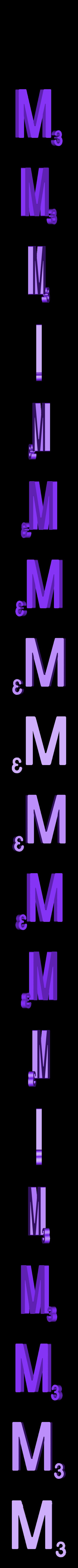Dual_Letter_M.STL Télécharger fichier STL gratuit Pièces et support SCRABBBLE • Design pour imprimante 3D, Balkhagal4D
