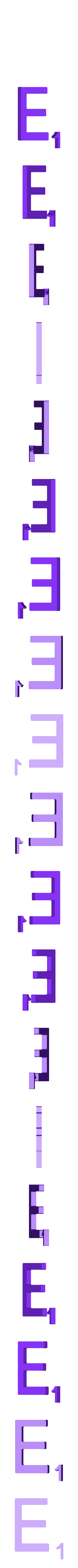 Dual_Letter_E.STL Télécharger fichier STL gratuit Pièces et support SCRABBBLE • Design pour imprimante 3D, Balkhagal4D