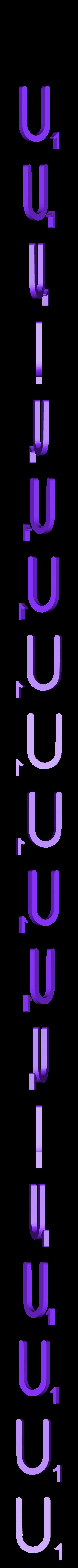 Dual_Letter_U.STL Télécharger fichier STL gratuit Pièces et support SCRABBBLE • Design pour imprimante 3D, Balkhagal4D