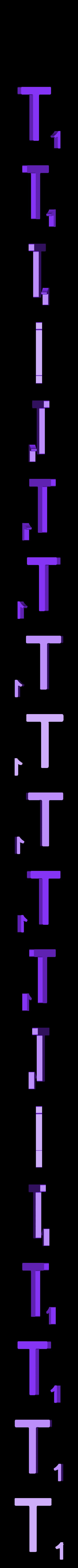 Dual_Letter_T.STL Télécharger fichier STL gratuit Pièces et support SCRABBBLE • Design pour imprimante 3D, Balkhagal4D