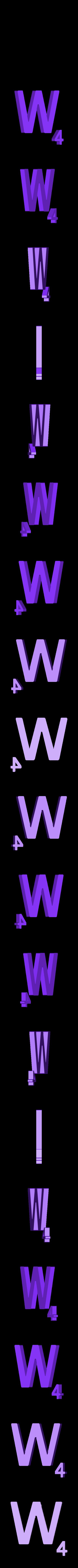 Dual_Letter_W.STL Télécharger fichier STL gratuit Pièces et support SCRABBBLE • Design pour imprimante 3D, Balkhagal4D