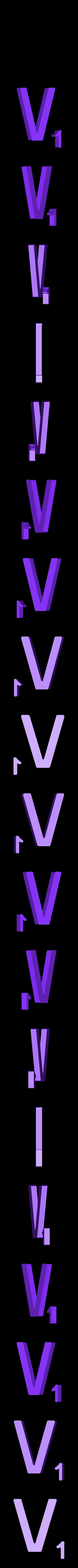 Dual_Letter_V.STL Télécharger fichier STL gratuit Pièces et support SCRABBBLE • Design pour imprimante 3D, Balkhagal4D