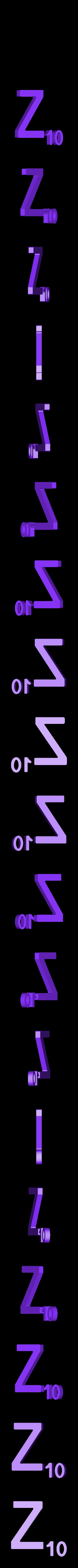 Dual_Letter_Z.STL Télécharger fichier STL gratuit Pièces et support SCRABBBLE • Design pour imprimante 3D, Balkhagal4D
