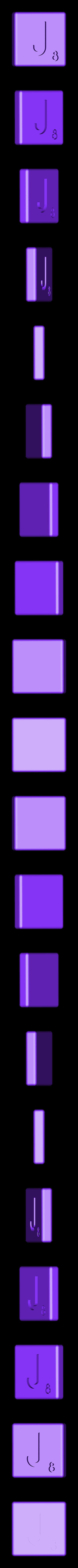 Dual_Shell_J.STL Télécharger fichier STL gratuit Pièces et support SCRABBBLE • Design pour imprimante 3D, Balkhagal4D