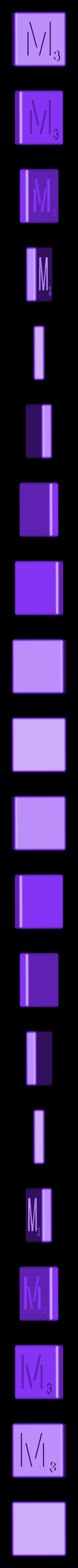 Dual_Shell_M.STL Télécharger fichier STL gratuit Pièces et support SCRABBBLE • Design pour imprimante 3D, Balkhagal4D