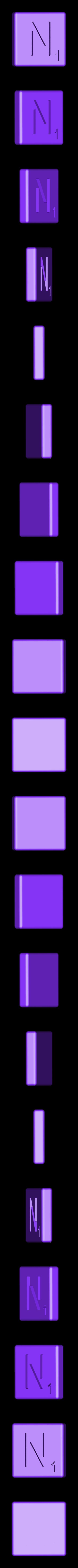 Dual_Shell_N.STL Télécharger fichier STL gratuit Pièces et support SCRABBBLE • Design pour imprimante 3D, Balkhagal4D