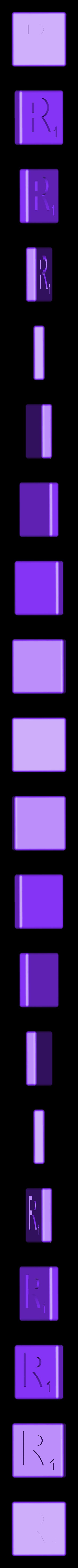 Dual_Shell_R.STL Télécharger fichier STL gratuit Pièces et support SCRABBBLE • Design pour imprimante 3D, Balkhagal4D