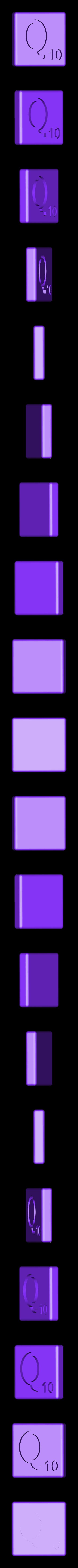 Dual_Shell_Q.STL Télécharger fichier STL gratuit Pièces et support SCRABBBLE • Design pour imprimante 3D, Balkhagal4D