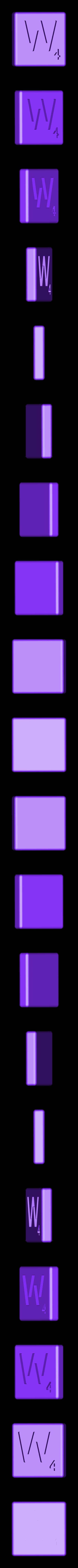 Dual_Shell_W.STL Télécharger fichier STL gratuit Pièces et support SCRABBBLE • Design pour imprimante 3D, Balkhagal4D