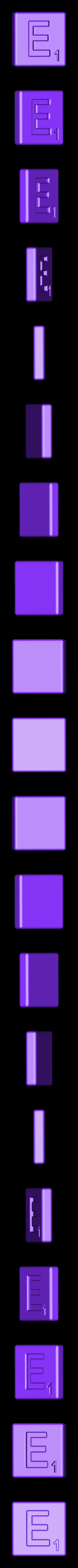 Single_Cut_E.STL Télécharger fichier STL gratuit Pièces et support SCRABBBLE • Design pour imprimante 3D, Balkhagal4D