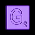 Single_Cut_G.STL Télécharger fichier STL gratuit Pièces et support SCRABBBLE • Design pour imprimante 3D, Balkhagal4D