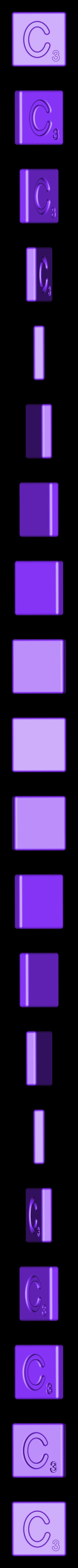 Single_Cut_C.STL Télécharger fichier STL gratuit Pièces et support SCRABBBLE • Design pour imprimante 3D, Balkhagal4D