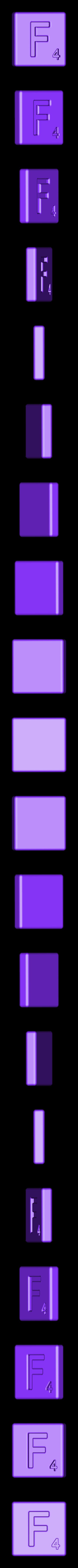 Single_Cut_F.STL Télécharger fichier STL gratuit Pièces et support SCRABBBLE • Design pour imprimante 3D, Balkhagal4D