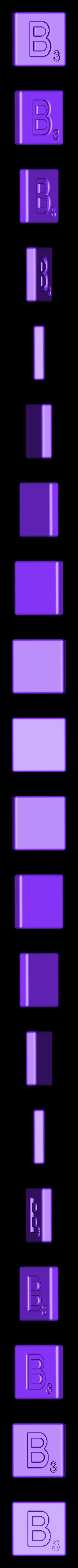 Single_Cut_B.STL Télécharger fichier STL gratuit Pièces et support SCRABBBLE • Design pour imprimante 3D, Balkhagal4D
