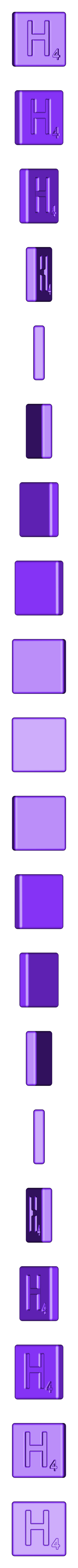 Single_Cut_H.STL Télécharger fichier STL gratuit Pièces et support SCRABBBLE • Design pour imprimante 3D, Balkhagal4D