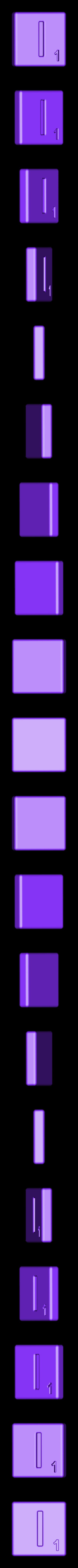 Single_Cut_I.STL Télécharger fichier STL gratuit Pièces et support SCRABBBLE • Design pour imprimante 3D, Balkhagal4D