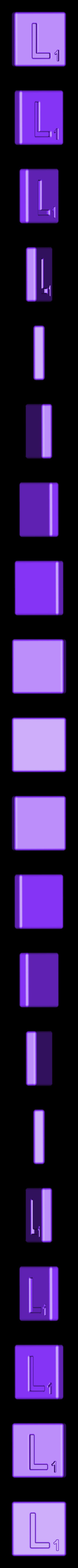 Single_Cut_L.STL Télécharger fichier STL gratuit Pièces et support SCRABBBLE • Design pour imprimante 3D, Balkhagal4D