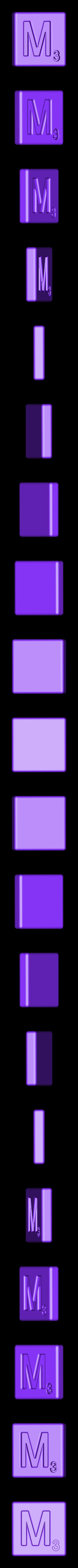 Single_Cut_M.STL Télécharger fichier STL gratuit Pièces et support SCRABBBLE • Design pour imprimante 3D, Balkhagal4D