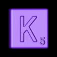 Single_Cut_K.STL Télécharger fichier STL gratuit Pièces et support SCRABBBLE • Design pour imprimante 3D, Balkhagal4D