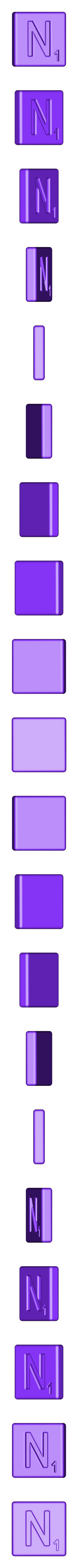 Single_Cut_N.STL Télécharger fichier STL gratuit Pièces et support SCRABBBLE • Design pour imprimante 3D, Balkhagal4D