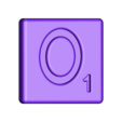 Single_Cut_O.STL Télécharger fichier STL gratuit Pièces et support SCRABBBLE • Design pour imprimante 3D, Balkhagal4D